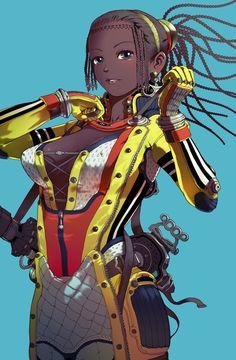 Dark Skin Anime Characters and Other Goodies Comic Character, Character Design, Black Anime Characters, Black Comics, Black Women Art, Black Art, Black Girls, Best Hero, Gray Eyes