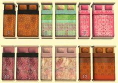 Mod The Sims - Eccentrica - 12 Fancy Beddings
