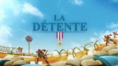 """In a trench during the first world war, a French soldier becomes paralyzed with fear. His mind disconnects from reality and escapes to a world where wars are fought by toys.  """"La Détente"""" is an animated short movie produced and directed by Pierre DUCOS and Bertrand BEY. The film was created with technical support from KAWANIMATION, sound design by """"Face B"""", and original music by Patrick STEMELEN.  www.ladetentelefilm.com"""