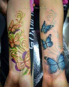 I like the wispy lines around the butterflies.