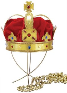 Buy costumes online like the Adult Regal King Red Crown with Gold Accents Men's Royal Costume Accessory from Australia's leading costume shop. Halloween Accessories, Party Accessories, Costume Accessories, Fairy Tea Parties, Tea Party, Morris Costumes, Halloween Hats, Adult Halloween, Halloween Ideas