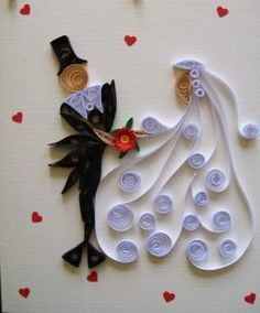 Relasé: Wedding invitation - which to choose - Quilling Paper Crafts Arte Quilling, Paper Quilling Cards, Paper Quilling Flowers, Paper Quilling Patterns, Origami And Quilling, Quilled Paper Art, Quilling Craft, Wedding Quilling Ideas, Paper Crafts Wedding