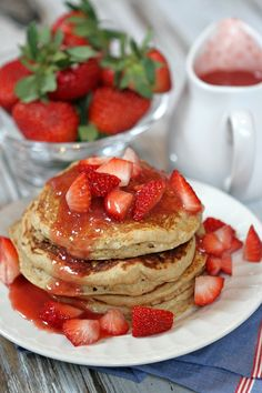 Strawberry Ricotta Whole Wheat Pancakes Recipe