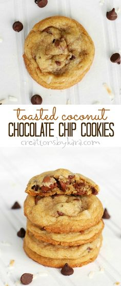 Toasted Coconut Chocolate Chip Cookies Recipe