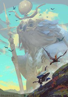 The Art Of Animation, Ryota Murayama - . Art Inspo, Kunst Inspo, Inspiration Art, Art And Illustration, Fantasy Kunst, Fantasy Art, Art Environnemental, Fantasy Landscape, Environmental Art