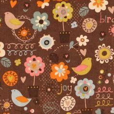 Stoff & Liebe – Kinderstoffe & Unikate | Blooming Lovely Braun | Stoffe online kaufen
