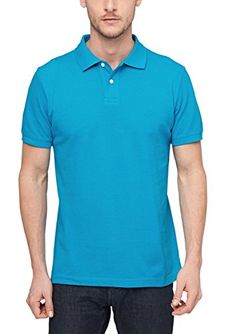 s.Oliver Herren Poloshirt Pique 13.506.35.2406, Einfarbig, Gr. Large, Türkis (turquoise 6277)