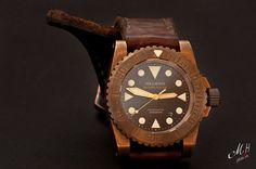 Helson Diver, Bronze watch, great strap