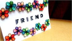 make friendship greeting cards at home. hpw to make friendshipday greetings card at home tutorial. enjoy the friendship day friendship belts and friendship day quotes, Friendship day images and wallpapers Friendship Day 2017, Friendship Day Cards, Happy Friendship Day Images, Friendship Day Greetings, Friendship Wishes, Quilling Flower Designs, Quilling Flowers, Quilling Cards, How To Make Greetings