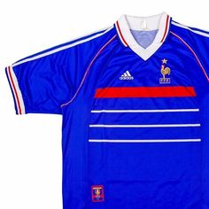 """d2b051ee4 Football Shirt Collective on Instagram  """"Allez Allez Allez - first player  you think of when you see this 1998 🇫🇷 x Adidas shirt  Link in bio 🛒"""""""