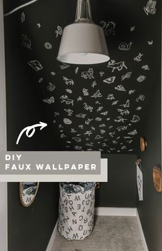 This DIY faux wallpaper is magical and SO affordable thanks to Cricut! Click through for the Full tutorial + design #cricutmade #cricut #ad Rental Home Decor, Home Decor Hacks, Rental Decorating, Home Decor Bedroom, Decorating Your Home, Diy Home Decor, Decor Ideas, Bedroom Ideas, Modern Kids Bedroom