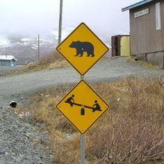 Beware of bears… but have fun, kids!
