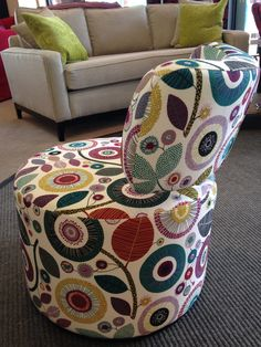 Visby - funky fabric from the suppliers own range.