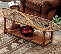 Vintage Snowshoe Coffee Table  Wow! $900