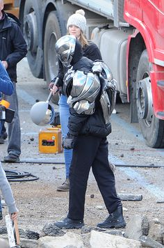 """Also we get a look at what could be the beginnings of Ultron. Minus the puffy jacket and plus a massive amount of CGI of course. 