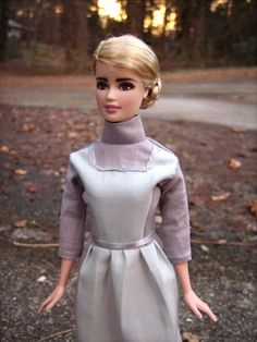 prim everdeen repainthair restyle barbie doll in district 13 nurse uniform from the - Primrose Everdeen Halloween Costume