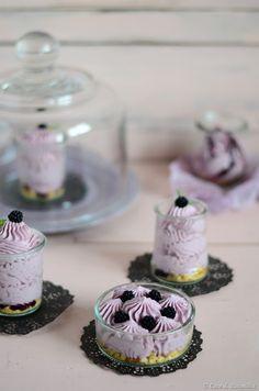 Cheesecakes de amora e mascarpone