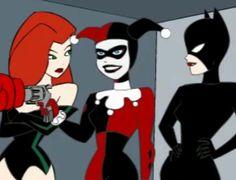 Poison Ivy, Harley Quinn and Catwoman. (Hera Venenosa, Arlequina e Mulher Gato).