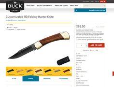 #UI #customize #UX Customize Hunter Knife www.buckknives.com/custom-knife-shop/
