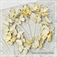 Town and Country Living: French Script Butterfly Wreath