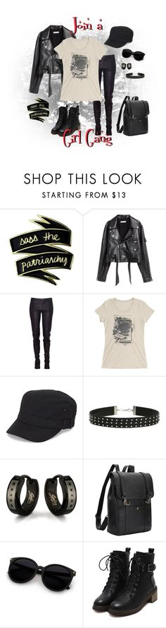 """""""Join a Girl Gang"""" by curiouscabinet ❤ liked on Polyvore featuring SKINN, Konsanszky, Roxy, Miss Selfridge, West Coast Jewelry, StreetStyle, feminism and statementtshirt"""