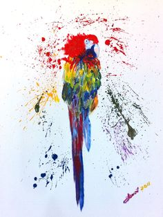"Saatchi Online Artist: Clement Tsang; Acrylic 2011 Painting ""Parrot"""