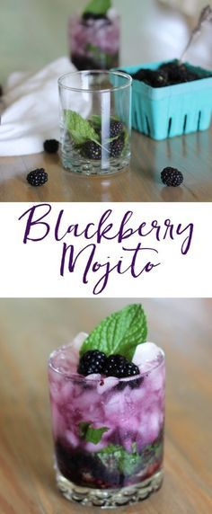 Blackberry mojito - this looks so good! Blackberries are my favorite, so this one could be dangerous, but I'm willing to risk it :) #blackberry #blackberrymojito #mojito #drinks #cocktails