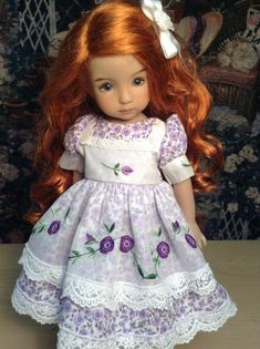 Effner Little Darling 13 Doll. Purple rosebud by SewMuchMoreToSew