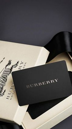 Burberry Gift Card - Presented in an elegant Burberry box, the Burberry gift card is redeemable in all US Burberry store - Gift Voucher Design, Burberry Gifts, Burberry Store, Gift Card Number, Member Card, Vip Card, Web Design, Calling Cards, Free Gift Cards