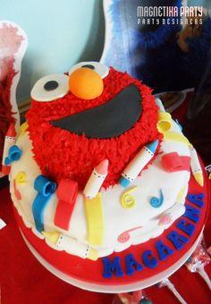Cute Elmo cake! #elmo #cake