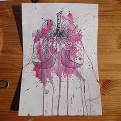 "Lungs - natamad, Nata Lappi (@natamad) Instagramissa: ""#natamadart #drawings #drawing #paintings #painting #watercolor #Art #finnishart"""