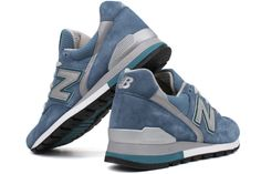 NEW BALANCE 996 Series M996DB Denim Blue / Grey A comfortable, lightweight, and stylish athletic shoe. Leather/Suede/Mesh upper provides lightweight comfort and support. Lace-up upper provides custom, secure fit. Lightly padded footbed for added comfort and support. ENCAP Wedge/C-CAP provides durability, stability and cushioning. Carbon rubber outsole provides long-wearing durability. SL-1 Last.