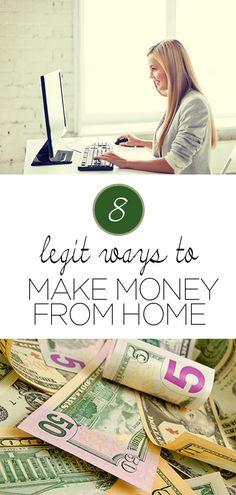 8 Legit Ways to Make Money From Home