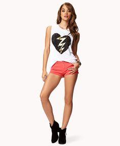 Heart & Lightning Muscle Tee   FOREVER 21 - 2075702832