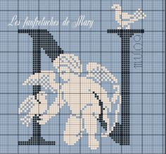 Cherub silhouette N Cross Stitch Alphabet, Cross Stitch Samplers, Cross Stitch Designs, Cross Stitch Patterns, Little Cherubs, Cross Stitch Angels, Beaded Christmas Ornaments, Alphabet And Numbers, Le Point