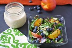 Light the grill for this summery grilled peach salad! The perfect way enjoy a yummy in season fruit.