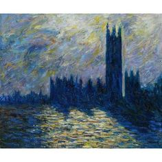 Monet - London. The Houses of Parliament (1905) Oil Painting for sale on overArts.com