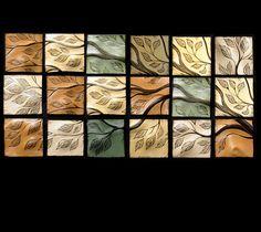 tile wall art | Natalie Blake Studios - Installation shots of Sculptural Wall Art Tile