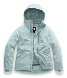 Stylish, insulated ski jacket made with DryVent™ fabric for extra comfort and increased warmth. North Face Women, The North Face, North Faces, Vest Jacket, Rain Jacket, Pants For Women, Jackets For Women, Women's Jackets, North Face Ski Jacket