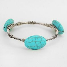 Semi Precious Stone Turquoise Silver Bangle Bracelet. Get the lowest price on Semi Precious Stone Turquoise Silver Bangle Bracelet and other fabulous designer clothing and accessories! Shop Tradesy now