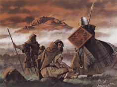 Scottish clansmen on the Highland