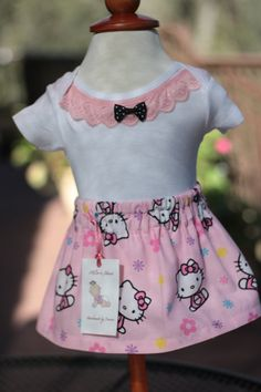 Hello Kitty Onesie Skirt set. Unique Onesie Baby by MilliesNana