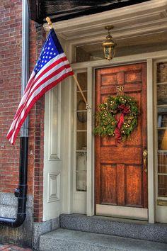 Boston Doorways 1 by Joann Vitali Weekend In New England, New England Travel, Christmas In Boston, Christmas Stuff, Christmas Wreaths, Merry Christmas, Christmas Decorations, Beacon Hill Boston, Christmas Window Boxes