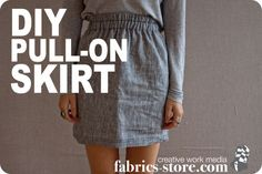 Linen Pull-on Skirt