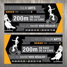 Panneaux de signalisation pour Le Moulin Culin'Arts By Sphere and Net http://www.sphereandnet.com
