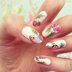 Parrot nails! Inspired by an insanely talented nail artist on Instagram. Nice and summery for the lovely summery weather!