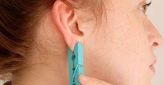 Sie steckt sich eine Wäscheklammer ans Ohr. Wenn du siehst warum, wirst auch du es machen wollen. | LikeMag - Social News and Entertainment