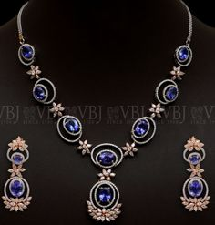 Blue Sapphire Necklace 10 lakhs