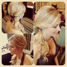 Wedding bridal hairstyle updo bridesmaid soft romantic hair . Hair by Www.wendyzarate.com