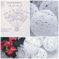 Ludmila Vodičková's 870 media content and analytics - Her Crochet Crochet Christmas Decorations, Crochet Decoration, Crochet Christmas Ornaments, Christmas Crochet Patterns, Holiday Crochet, Crochet Snowflakes, Handmade Ornaments, Christmas Crafts, Crochet Ball